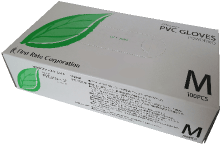 プラスチック手袋 ファーストレイト プレミア・PVCグローブ(粉付き)